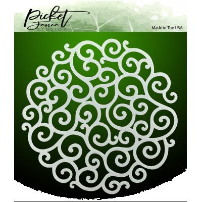 Picket Fence Studios Stencil - Flourish Circle