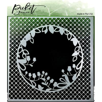 Picket Fence Studios Stencil - Peek A Boo Flower