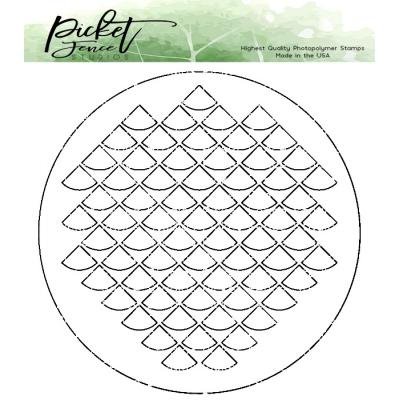Picket Fence Studios Stencil -  Fish Scales