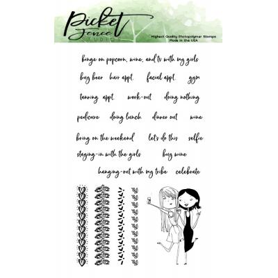 Picket Fence Studios Clear Stamps - Selfie Love