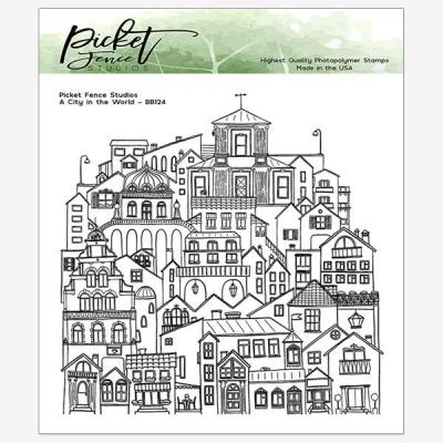 Picket Fence Studios Clear Stamps - A City in the World