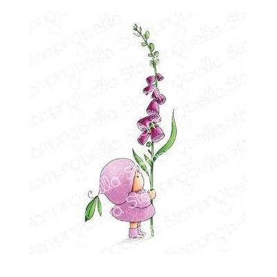 Stamping Bella Cling Stamp - Bundle Girl With A Foxglove