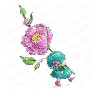 Stamping Bella Cling Stamp - Bundle Girl With A Rose