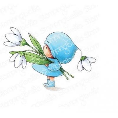 Stamping Bella Cling Stamp - Bundle Girl With A Snowdrop