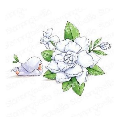 Stamping Bella Cling Stamp - Bundle Girl With Gardenia