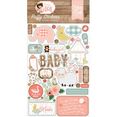 Echo Park Baby Girl -  Puffy Stickers