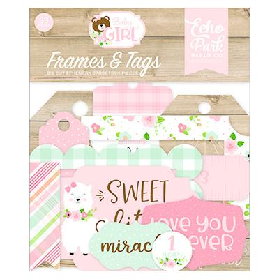 Echo Park Baby Girl - Frames & Tags