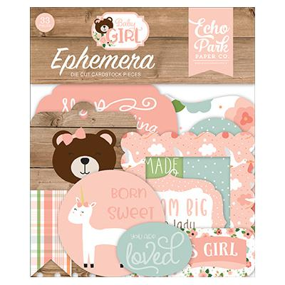 Echo Park Baby Girl - Ephemera