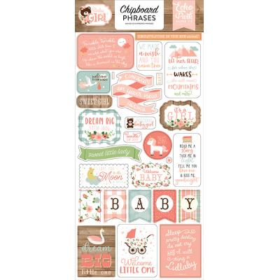 Echo Park Baby Girl - Chipboard Phrases