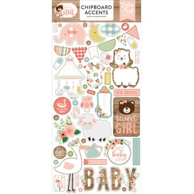 Echo Park Baby Girl - Chipboard Accents