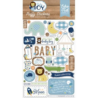 Echo Park Baby Boy Puffy Stickers - Baby Boy