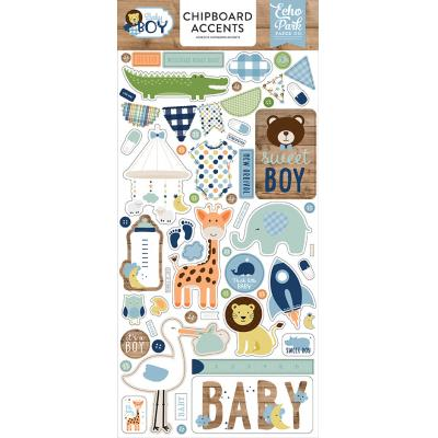 Echo Park Baby Boy - Chipboard Accents