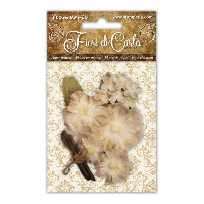 Stamperia Paper Flowers - Mixed Ivory