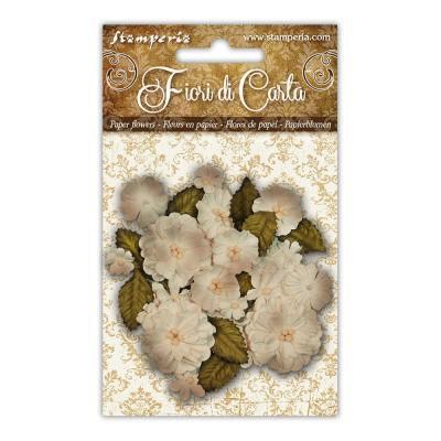 Stamperia Paper Flowers - Ivory