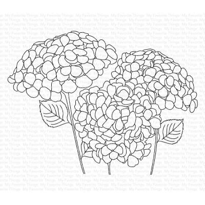 My Favorite Things Clear Stamps - Hydrangeas in Bloom