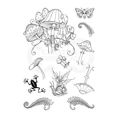 Creative Expressions Pink Ink Clear Stamps - Fungi