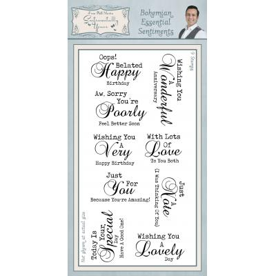 Creative Expressions Sentimentally Yours Bohemian Clear Stamps - Essential