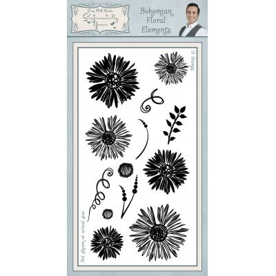 Creative Expressions Sentimentally Yours Bohemian Clear Stamp - Floral Elements