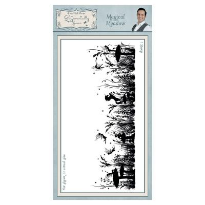 Creative Expressions Sentimentally Yours Pre Cut Rubber Stamp Set - Magical Meadow