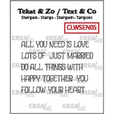 Crealies Clear Stamps Tekst & Zo - Wordstrips Love CLWSEN05