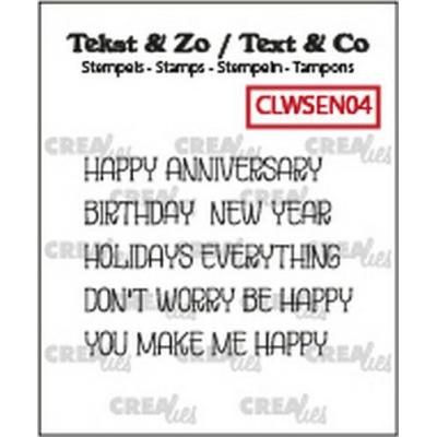 Crealies Clear Stamps Tekst & Zo - Wordstrips Happy (Eng) CLWSEN04