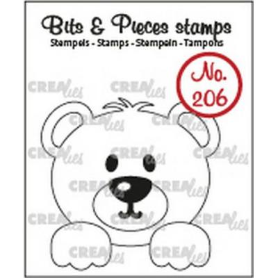 Crealies Bits & Pieces Clear Stamp - Bear CLBP206
