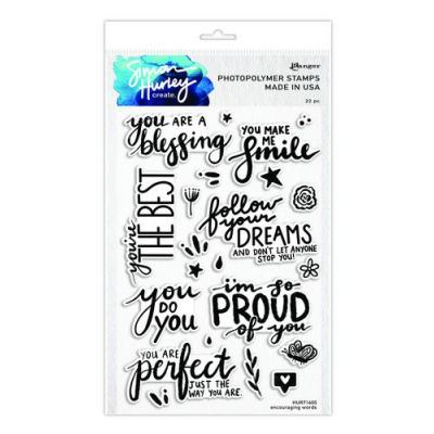 Ranger Clear Stamps Simon Hurley - Encouraging Words