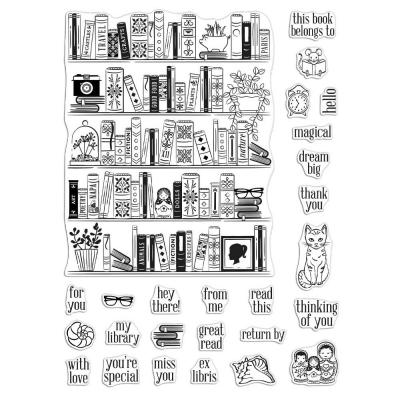 Hero Arts Clear Stamps - Bookcase Peek-A-Boo