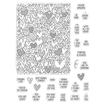 Hero Arts Clear Stamps - All My Heart Peek-A-Boo Parts