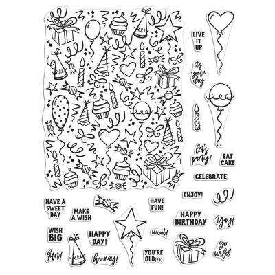 Hero Arts Clear Stamps - Wish Big Peek-A-Boo Parts