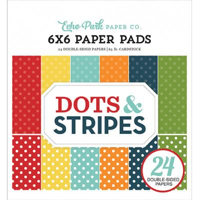 Echo Park Dots & Stripes Summer Designpapier - Paper Pad