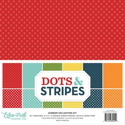 Echo Park  Dots & Stripes Designpapier - Summer