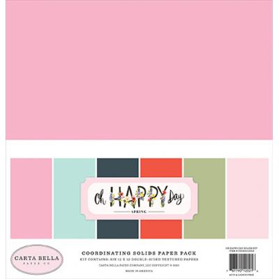 Carta Bella Oh Happy Day Cardstock - Solids Kit