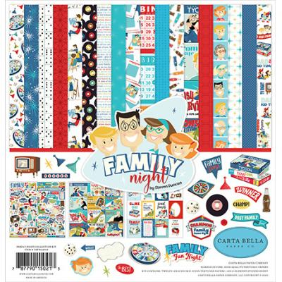 Carta Bella Family Night Designpapier - Collection Kit