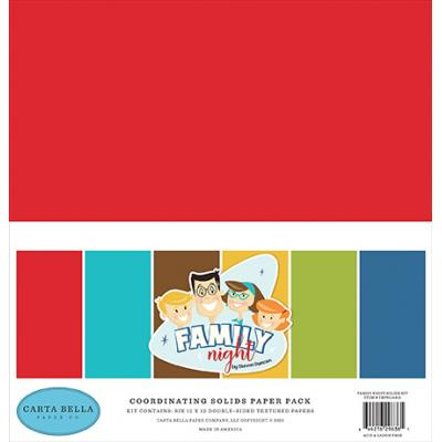 Carta Bella Family Night Cardstock - Solids Kit