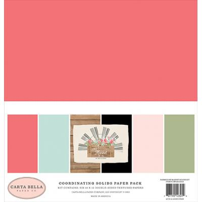 Carta Bella Farmhouse Market Cardstock - Solids Kit