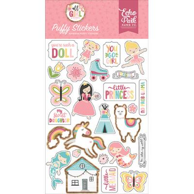 Echo Park All Girl - Puffy Stickers