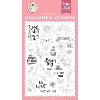 Echo Park All Girl Clear Stamps - Dream Big