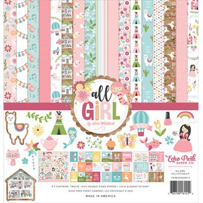 Echo Park All Girl Designpapier - Collection Kit