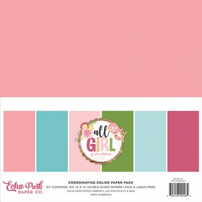 Echo Park All Girl Cardstock - Solids Kit