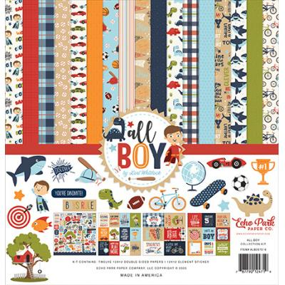 Echo Park All Boy Designpapier - Collection Kit