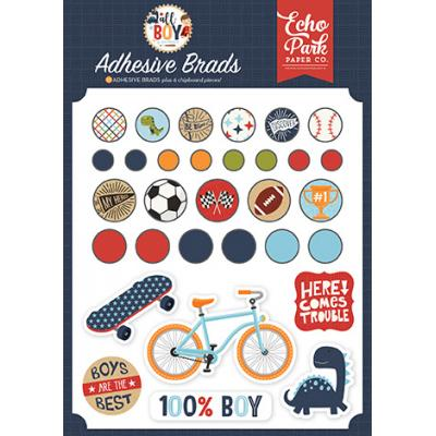 Echo Park All Boy Embellishments - Adhesive Brads