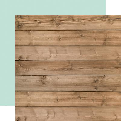 Carta Bella Farmhouse Market Designpapier - Woodgrain/Blue