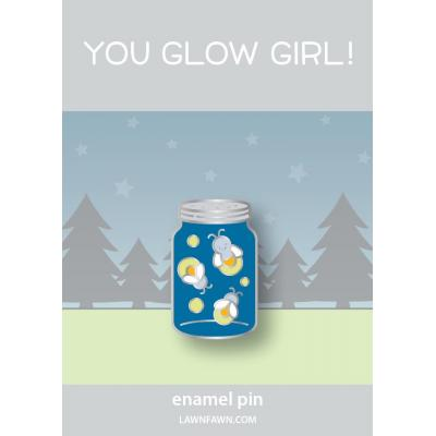 Lawn Fawn Enamel Pin - You Glow Girl