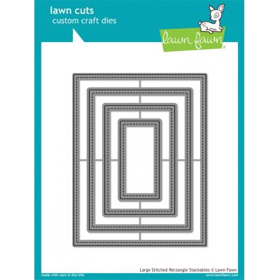 Lawn Cuts - Large Stitched Rectangle Stackables