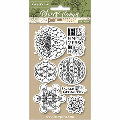 Stamperia Natural Rubber Stamps - Sacred Geometry