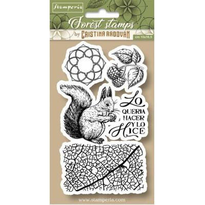 Stamperia Natural Rubber Stamps - Squirrel