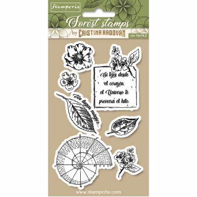 Stamperia Natural Rubber Stamps - Botanical