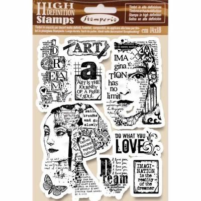Stamperia Natural Rubber Stamps - Art is the Journey