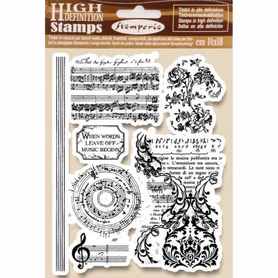 Stamperia Natural Rubber Stamps - Music Beginning